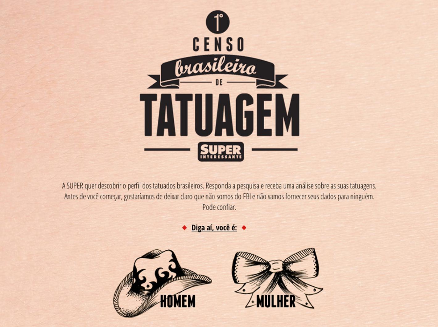 Primeiro Censo de Tatuagem do Brasil - Revista Superinteressante